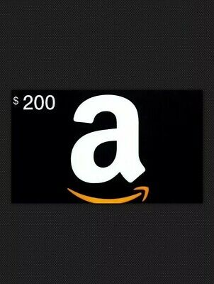 $200 Amazon Gift Card * FREE USPS SHIPPING * (Digital Avail.) Returns Accepted