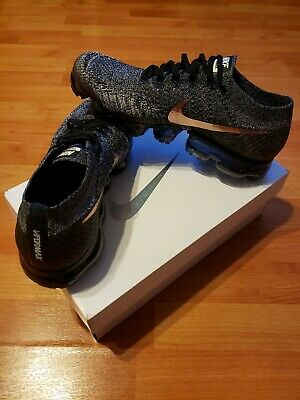 huge selection of ffc2b f6b3d AUTHENTIC NIKE VAPORMAX FLYKNIT EXPLORER BLACK ROSE GOLD 849558 010 Men  size9.5