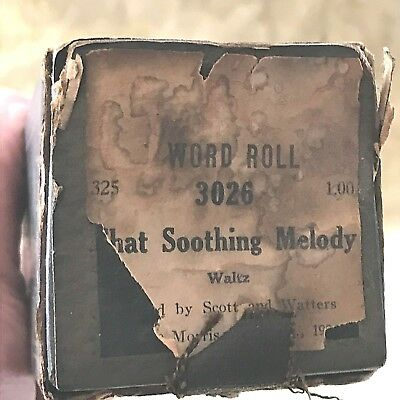 "QRS Player Piano Word Roll ""That Soothing Melody"" No.3026  Good Condition!"