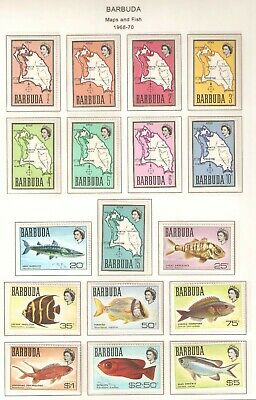 Barbuda, Scott 12 - 28, in Mixed mint condition (all are MNH except the 20c)