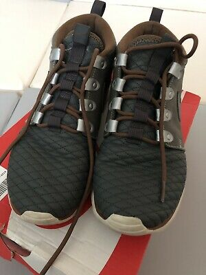 f76a6adabaf5 Nike Men s Roshe Run Sneakerboot QS Leather Mercury Grey 639165-002 Size 8.5