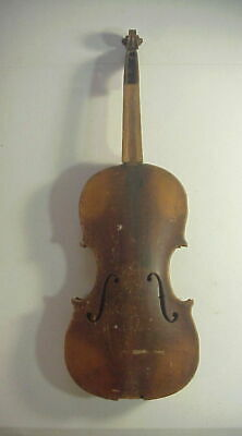 Antique OLE BULL VIOLIN with 1 PIECE TIGER MAPLE BACK NEEDS RESTORE