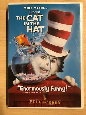 Dr. Seuss The Cat in the Hat (DVD, 2003, Full Frame Edition) - F0127