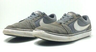 Nike Sb Mens 7 5 Satire Two Leather Canvas Sneakers Skateboarding