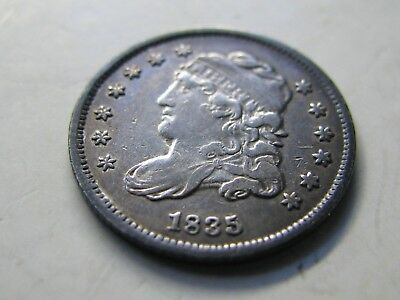 1835 Small Date Small 5C Capped Bust Half Dime - VF/EF