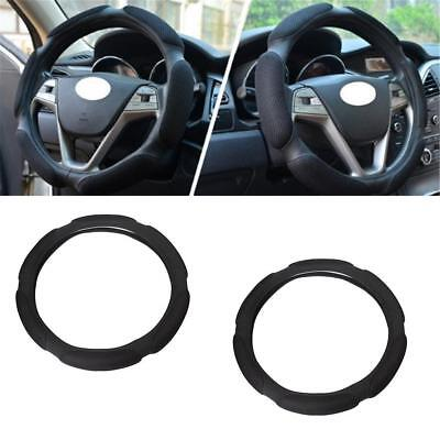 Black Auto Car Steering Wheel Cover Carbon Pattern with PU Leather Car Cover*~