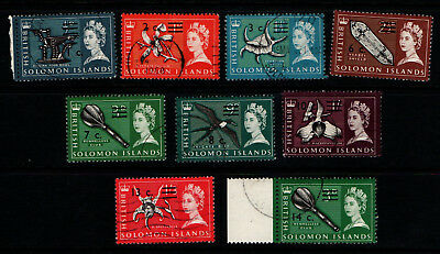British Solomon Islands 1966 1967 QEII selection to 14 cents Used