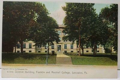 Lancaster Pa Science Building, Franklin and Marshall College 1905 Postcard E3