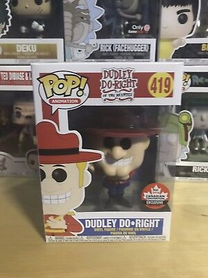 Funko Pop! Animation 2018 Fan Expo Canada Exclusive Dudley Do-Right #419 In Hand