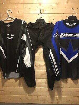 One Size 28 Pants O'Neal Large Alloymx Small Jersey Motocross Riding Outfit NICE
