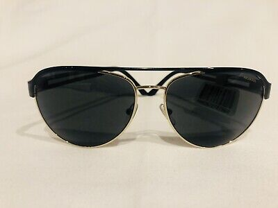 9dddedb49a38c Authentic Versace Sunglasses VE2165 1366 71 Black Gold Frames Green Lens  58MM