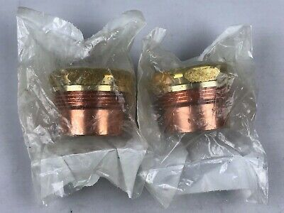 """2 Pack - Nibco 1-1/2"""" inch FTG x SJ - Copper DWV Trap Adapter Fittings # 901-2-7"""