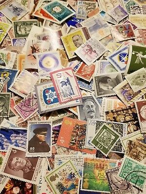 World, Collection lot of 400 worldwide stamps, Off paper, mint, used #58