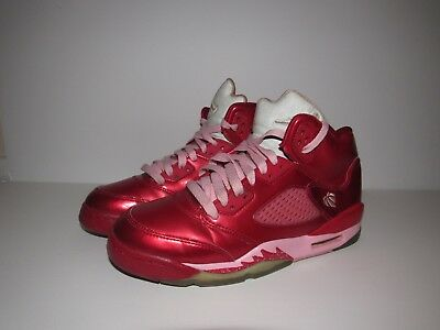 newest collection 660c3 cd1f2 Nike Air Jordan 5 Retro GS Valentines Day Red Pink 440892-605 Size 5Y Womens