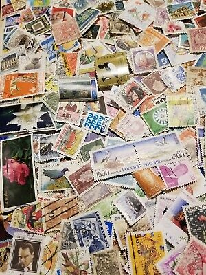 World, lot of 2000 ALL Different worldwide stamps, Off paper,mint,used