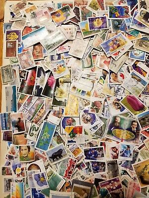 Canada 1000 different stamps off paper large and small early-2017