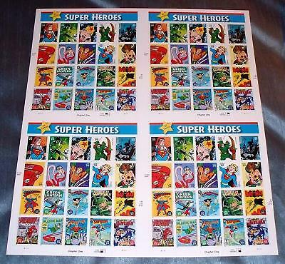 US Uncut Press Sheet - DC Comics Superheroes Stamps - Superman, Scott 4084, MNH