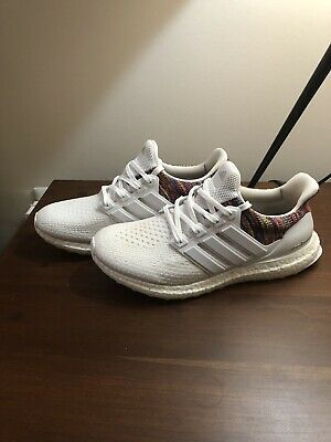 10694b7d41aaf Adidas MiAdidas Ultra Boost 2.0 White Multi-color Rainbow Mens Size 9 Limit  Edit