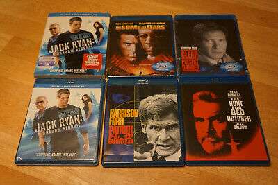 Jack Ryan Collection Blu-ray BD Lot of 5 Movies