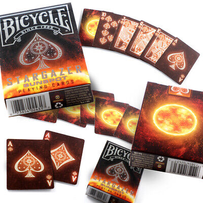 Bicycle Stargazer Sunspot Playing Cards Single Deck Solar Limited Edition New
