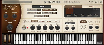SONIVOX Orchestral Companion Strings | w/ Nomad Factory Busdriver! |Unregistered