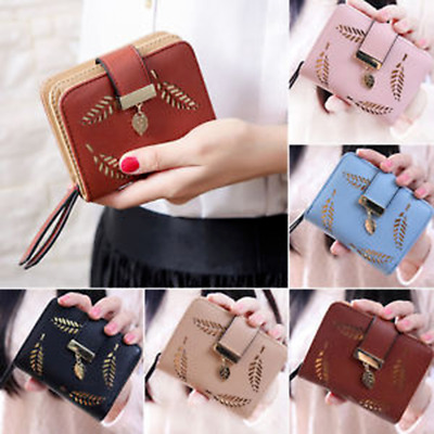 AU Women Ladies Cash Short Wallet Card Holder Zipper Clutch Handbag Coin Purse