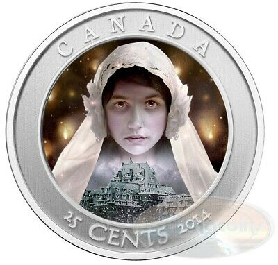 2014 Canada Hologram Coloured Coin Haunted Series - Ghost Bride