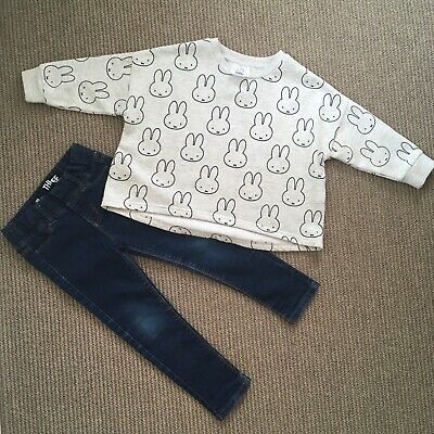 Cotton On Miffy Jumper and skinny jean Bundle, Size 3