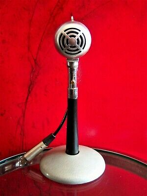 Vintage 1940's Turner CX crystal bullet microphone old antique w accessories