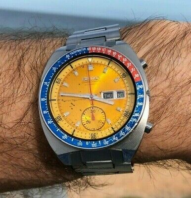 SEIKO 6139 6000 ORIGINAL 1970 WATER70mPROOF 6139A 17 JEWEL WITH NOTCHED CASE