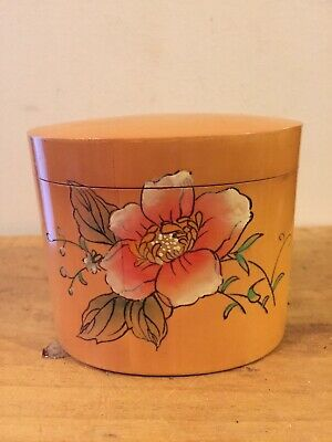 Vintage Chinese Pyrography Box - Signed