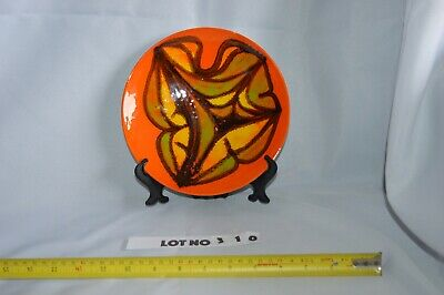 Poole Pottery Delphis Plate Pattern orange