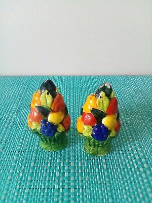 Baskets of fruit Salt And Pepper Shakers