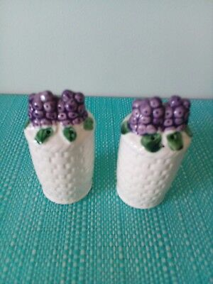 Baskets with purple grapes Salt And Pepper Shakers