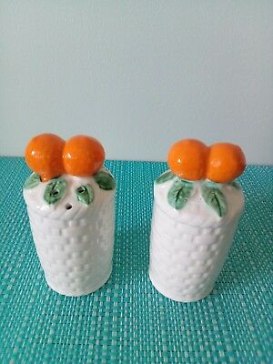 Baskets with oranges Salt And Pepper Shakers