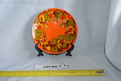 Poole Pottery Delphis Plate Pattern orange fab condition
