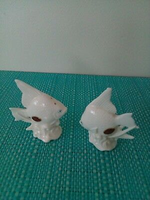 White fish Salt And Pepper Shakers.