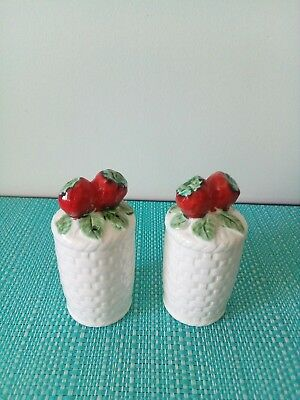 Baskets with strawberries Salt And Pepper Shakers