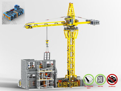 LEGO MOC Construction Site - CUSTOM - PDF Instructions Manual(10264,10260,10255)