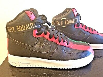 d79e9f2473a1 Nike Air Force 1 High BHM Black History Month QS Equality Black Red 836227- 002