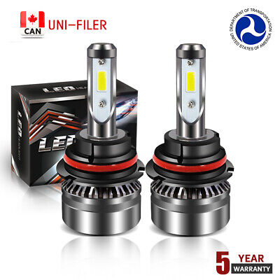 Pair 9004 HB1 LED Headlight Replace Bulbs for Dodge Ram 1500 2500 3500 2002-2005