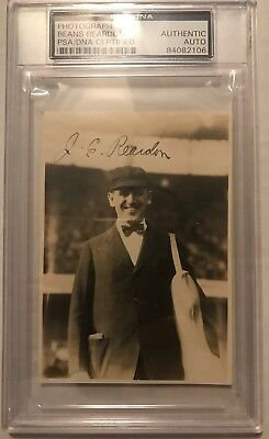1931 US Tour of Japan BEANS REARDON Auto/Autograph Picture/Snapshot PSA/DNA