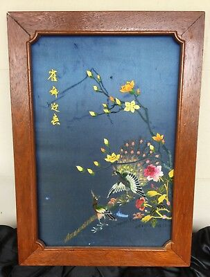 Old Artwork,Chinese silk embroidered framed, fine work