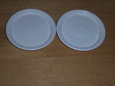 2 Wedgwood Queens Ware Edme - small plates / pin dishes 10.5 cm diameter