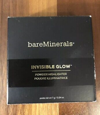 Bare Minerals Invisible Glow Powder Highlighter Full Size .24 Oz Tan Medium