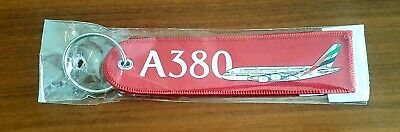 Airbus A380 Remove Before Flight Embroidered Aviation keyring/fob/tag - NEW