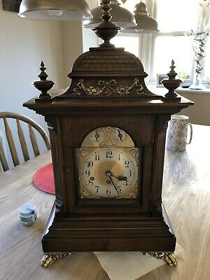 Antique German 8 Day Bracket Clock Junghans