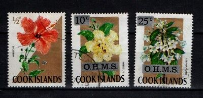 Cook Islands 1967 Flowers selection to 25c OHMS Used