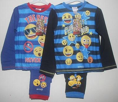 Boy's Official EMOJI Pyjamas Sublimated PJs in 2 styles - Sizes 6-13 Years