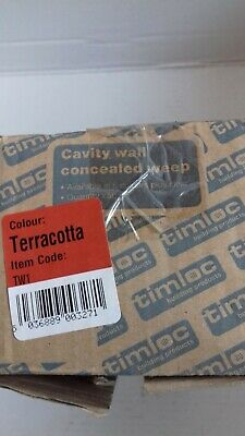 Timloc TW1 Tunnel Low Profile Cavity Wall Weep Vents Buff Pack of 50